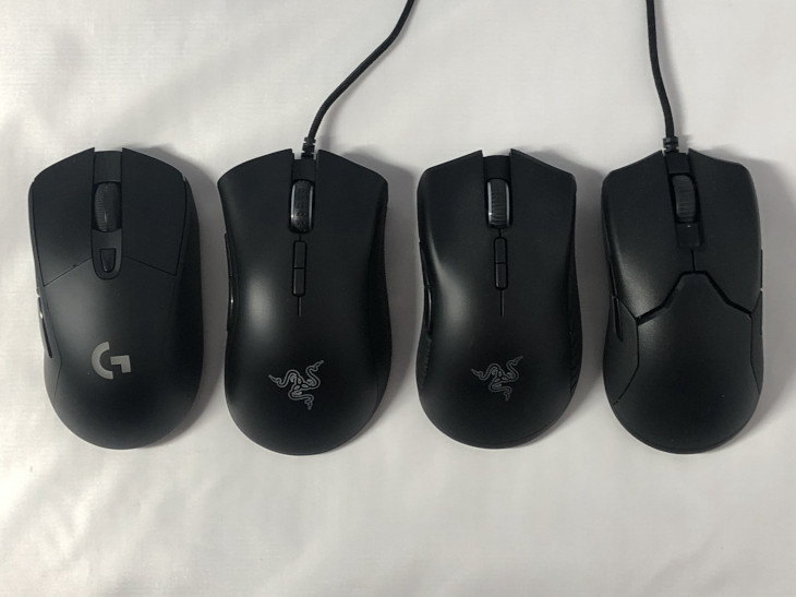 他のマウスと形状を比較