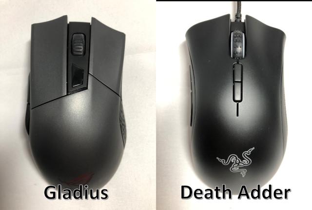 全体像(左:Gladius 右:DeathAdder)