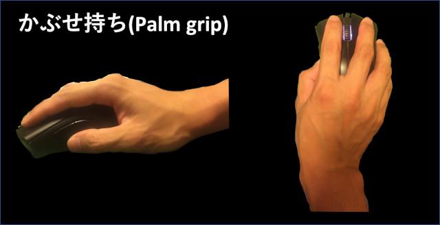 かぶせ持ち(Palm grip)