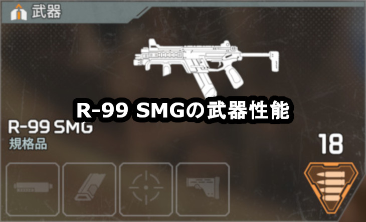 R-99 SMGの武器性能