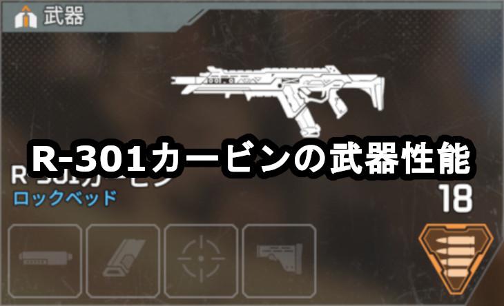R-301カービンの武器性能