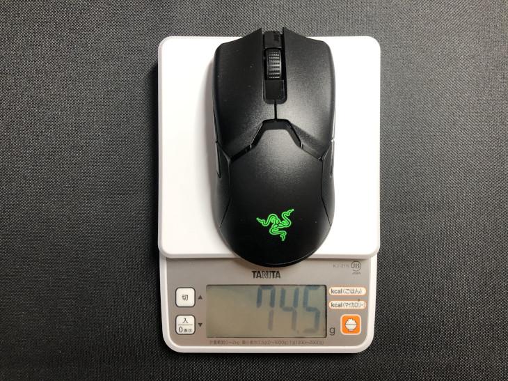 マウスの重量が合っていること