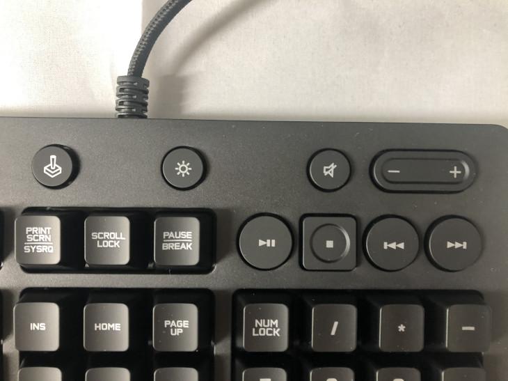 メディアコントロールボタン