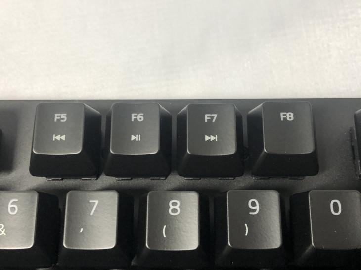 ファンクションキー(F5~F7)