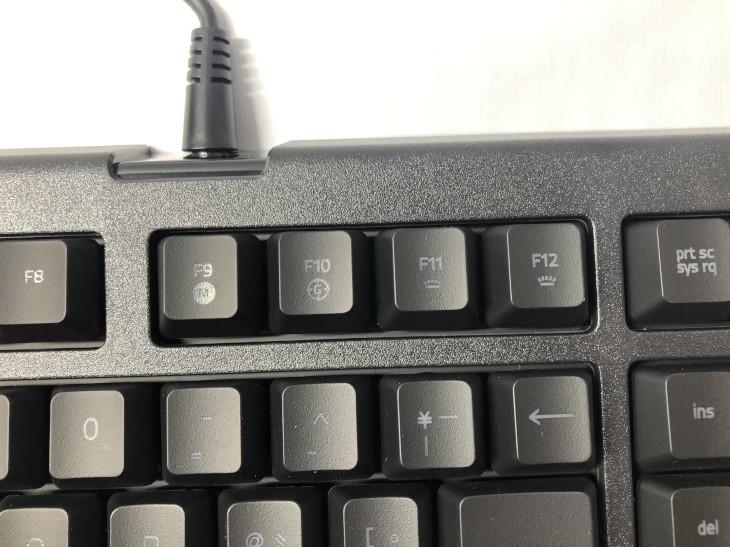 ファンクションキー(F9~F12)