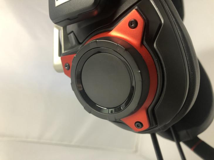 音量調節のダイヤル