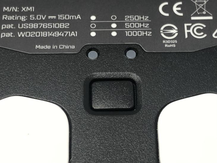 DPI、ポーリングレート切替ボタン
