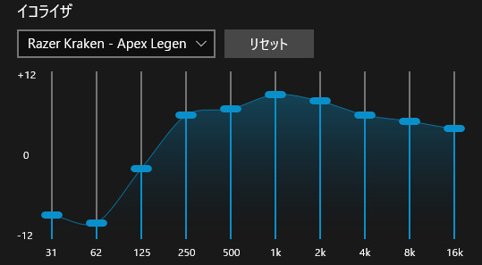 Apex Legends向けイコライザ設定