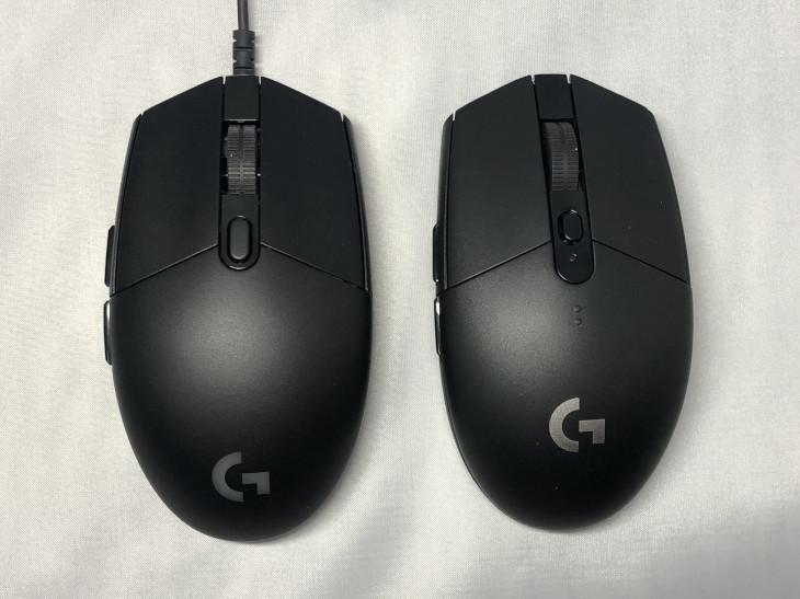 左右対称ゲーミングマウスは大きく2種類2
