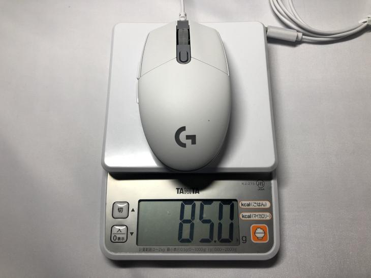 重さ - Logicool G203 LIGHTSYNC
