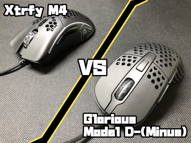 Xtrfy M4 VS Glorious Model D-(Minus)
