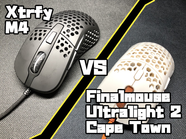 Xtrfy M4 VS Finalmouse Ultralight 2 – Cape Town